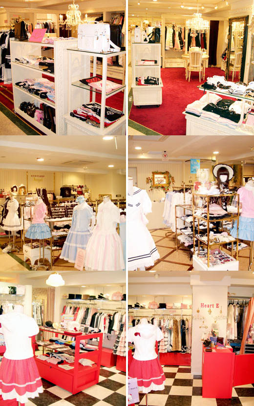 Marui Young Sweet Lolita department store shops