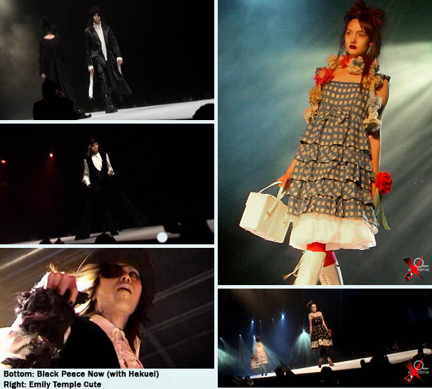 Gothic Lolita fashion show at Japan Expo in Paris, Black Peace Now and Emily Temple Cute