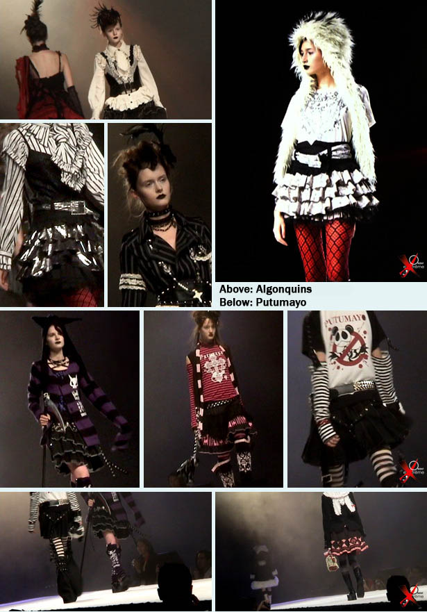 Gothic Lolita fashion show at Japan Expo in Paris, Algonquins and Putumayo