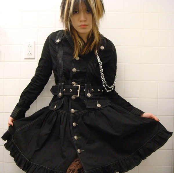 Algonquins Japanese Gothic Lolita dress coat from Kinokuniya Bookstore.