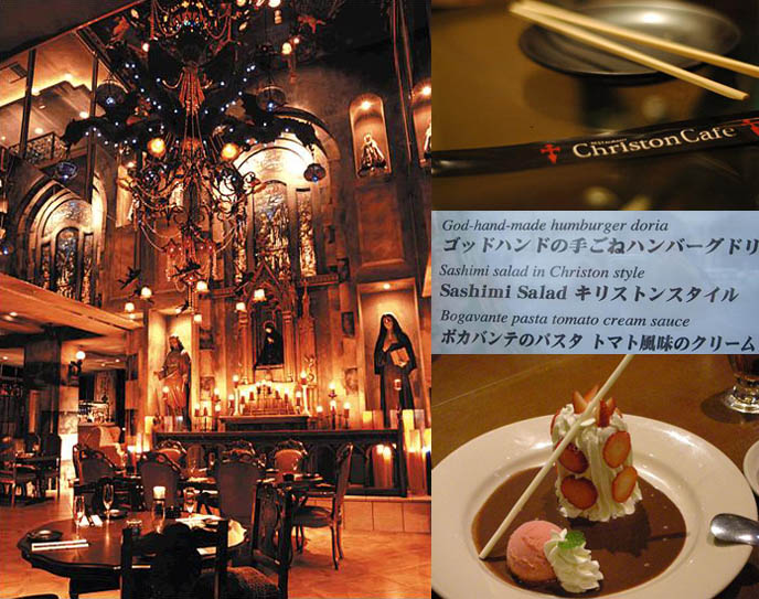 Tokyo's Christon Cafe, a Christian theme restaurant popular with Japan Gothlolis.