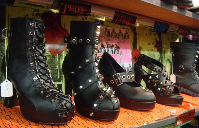 Tripp NYC punk, industrial and goth shoes and boots.