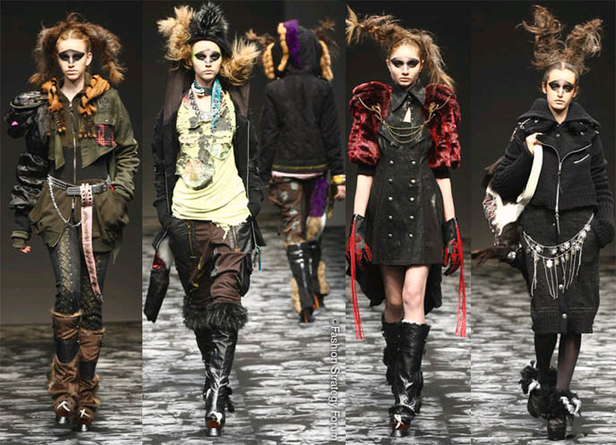 H naoto 2008 fall winter show at japan fashion week in Japanese clothing designers
