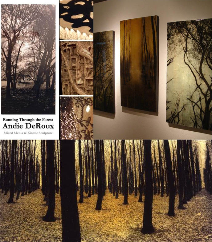 Andie Deroux art and paintings series Running Through the Forest.