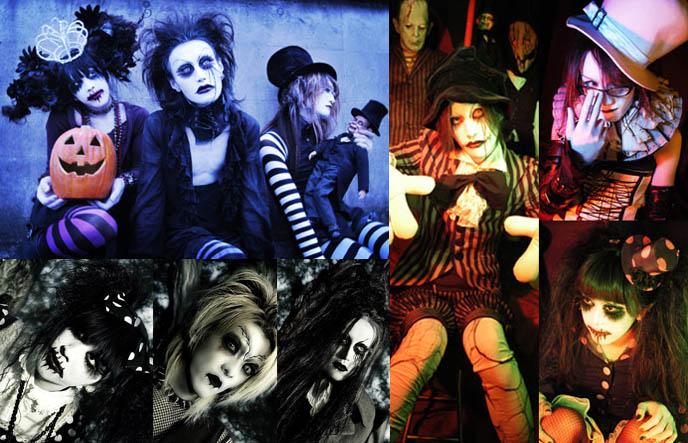 Candy Spooky Theater, visual kei Japanese band fashion.