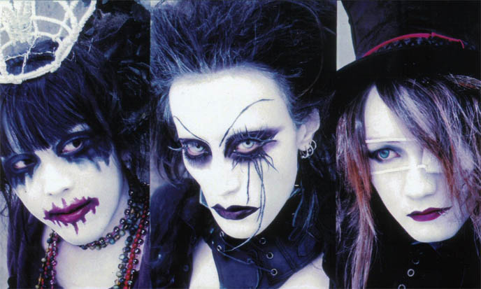Candy Spooky Theater, scary Tokyo visual kei J-rock band with Lolita clothes and makeup.