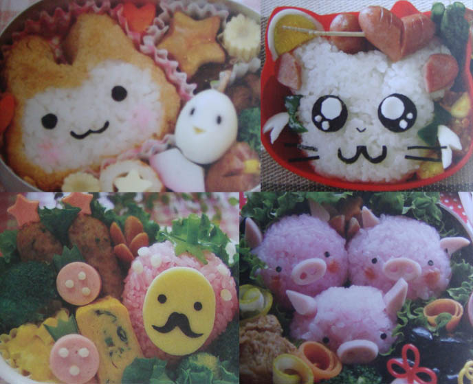 Charaben: cute Japanese school lunches decorated like anime and manga characters.