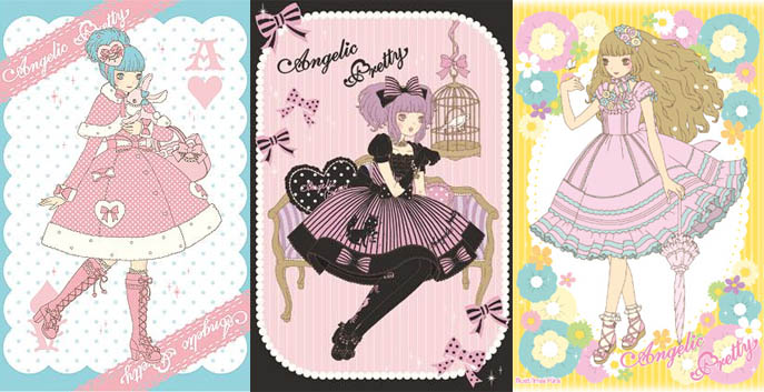 Angelic Pretty art and graphics from sweet lolita online shop.