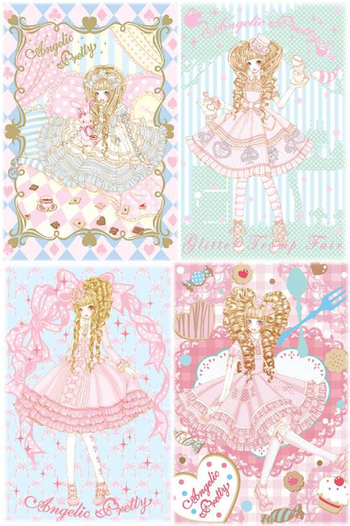 Sweet Lolita Japanese art by Angelic Pretty, featured in Gothic & Lolita Bible.