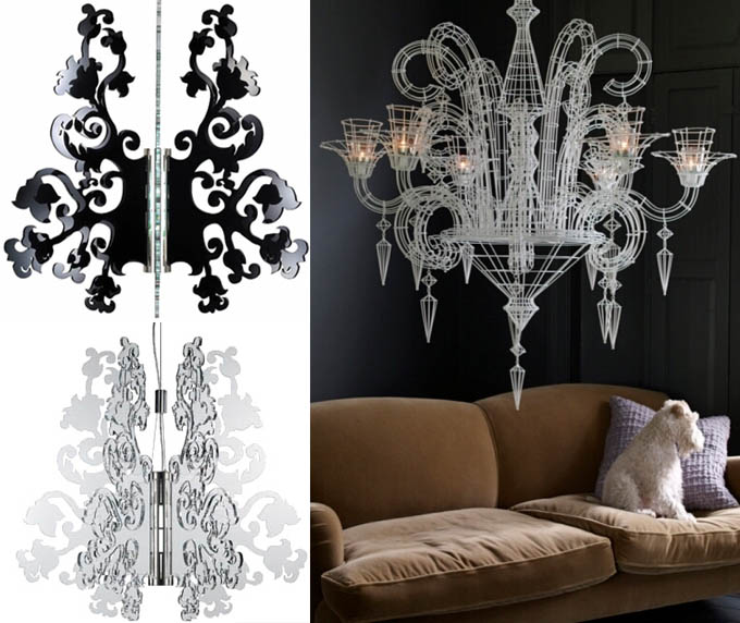 Atelier Abigailahern neo-Baroque chandelier, Anastacha Lamp by Terzani modern gothic rococo furniture and home decor.