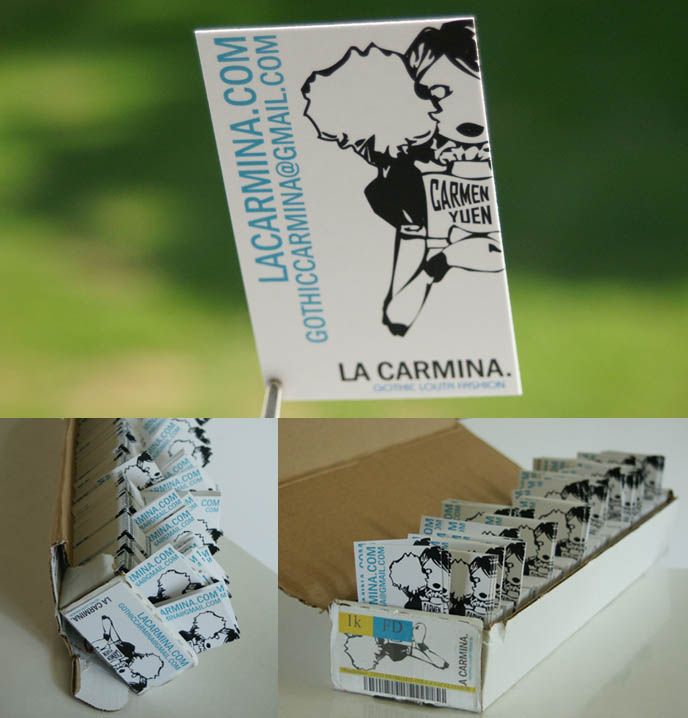 La carmina color business cards american psycho patrick bateman color business cards cheap cool design business cards la carmina fashion company contact information reheart Gallery