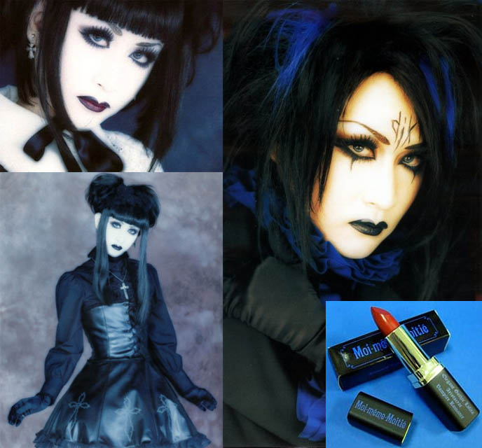 goth makeup how to. Gothic Lolita makeup on