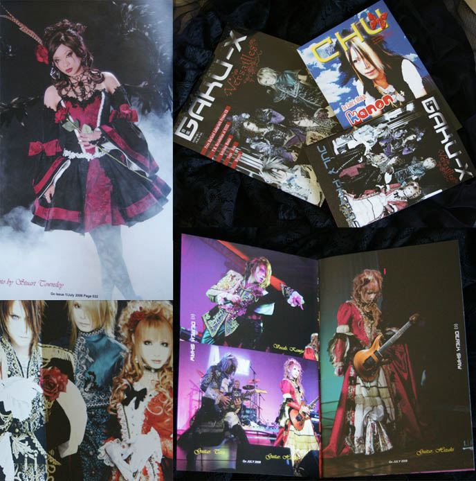 Gaku-x gothic lolita magazine, j-rock and visual kei magazine for cosplay fans, Japanese rock bands and music.