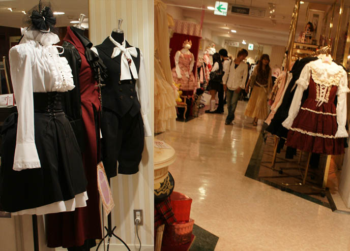 Angelic Pretty and Kera shop angel stores in Tokyo, Japan. Pink ama loli dresses, egl elegant gothic lolita and aristocrat fashion.