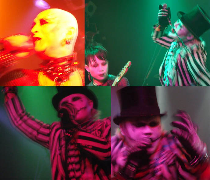 Tokyo Dark Castle Japanese goth bands performing. 13th MOON and Genet of Auto-Mod, spooky Halloween jack skellington music.