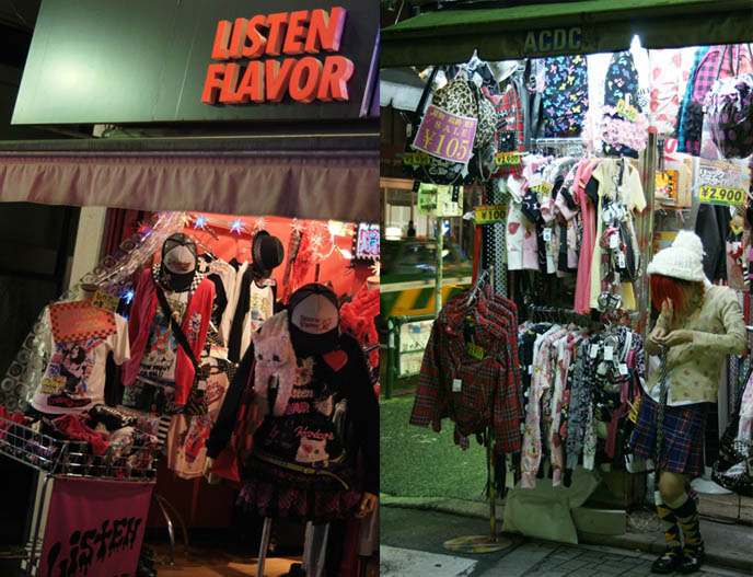 Listen Flavor new rave electro streetwear clothing brand. Hoodie and plaid skirt. Harajuku punk rock, Goth, emo and lolita stores. Bargain cheap alternative fashion and shopping in Tokyo, Japan.