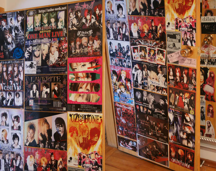Goth interior decor, home  design Gothic Martha Stewart. Tokyo Visual Kei band flyers. J-rock band posters, indie Japanese rock punk and Goth bands. Versailles Philharmonic Quintet, VK music.